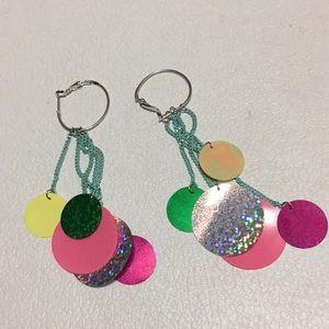 Zara tassels hook earrings
